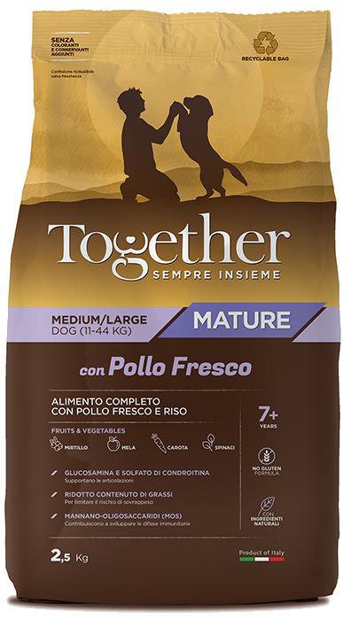 TOGETHER M/L MATURE POLLO E RISO  2,5 KG.
