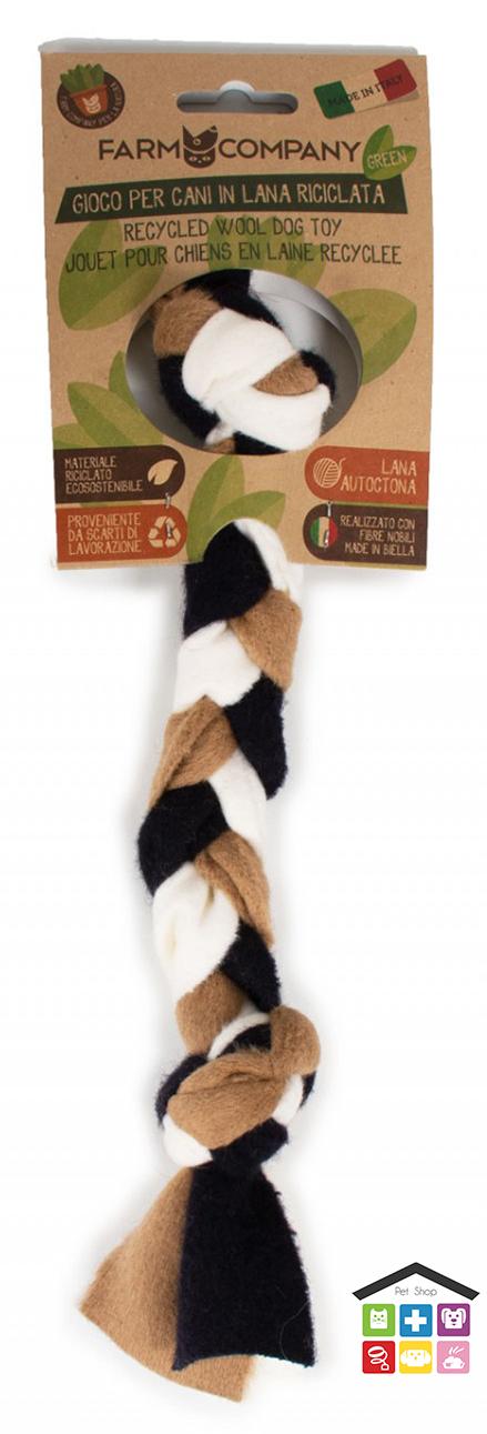 Farm company gioco 2 nodi per cani con lana riciclata