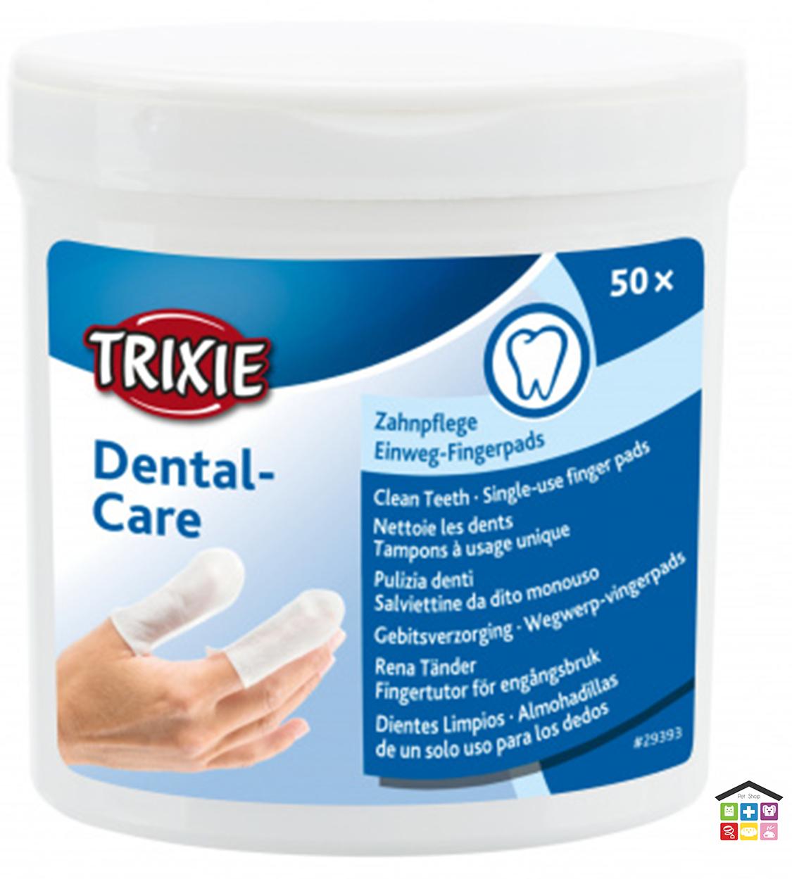 Trixie salviettine per dito pulizia denti