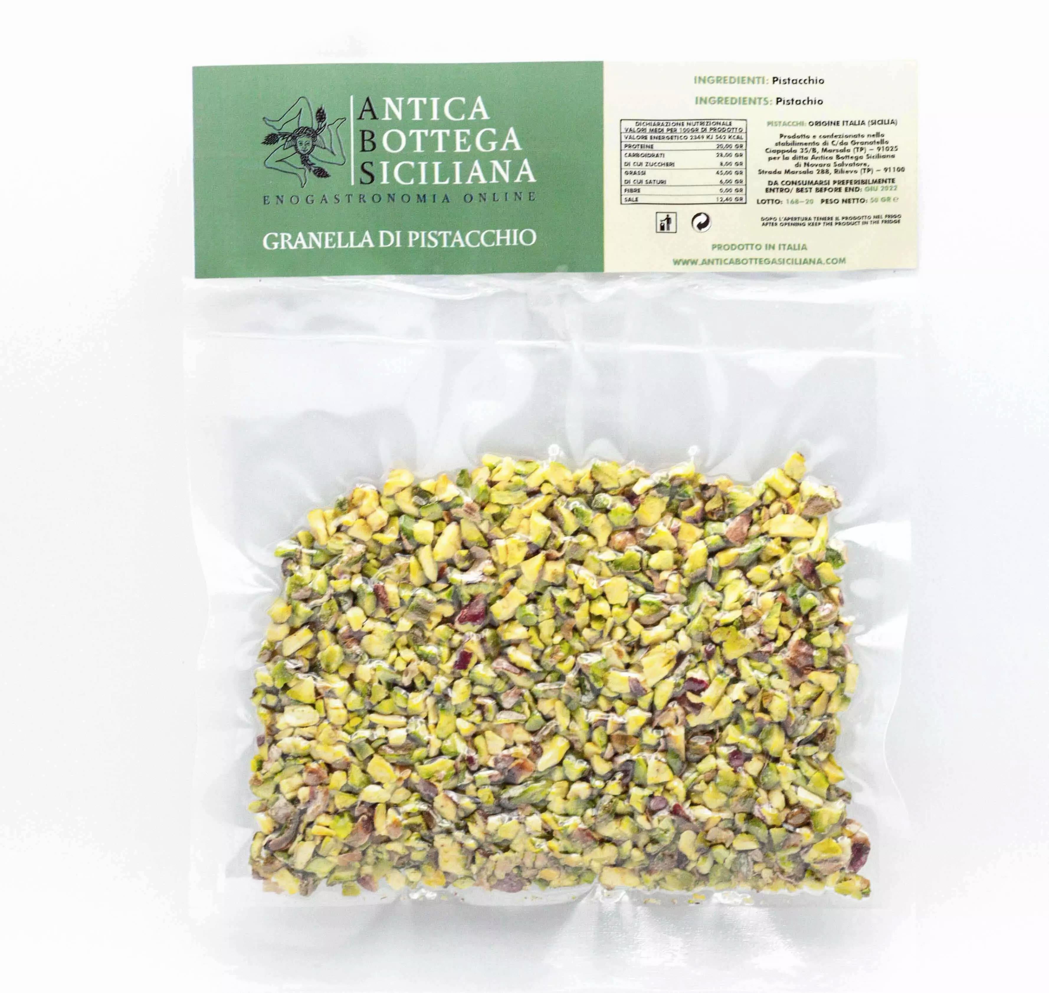 Granella di pistacchio siciliano 50 grammi