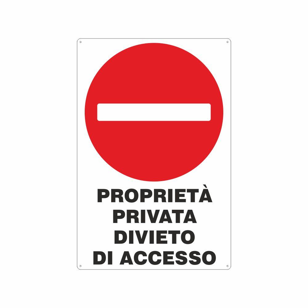 Cartello Proprietà privata divieto di accesso