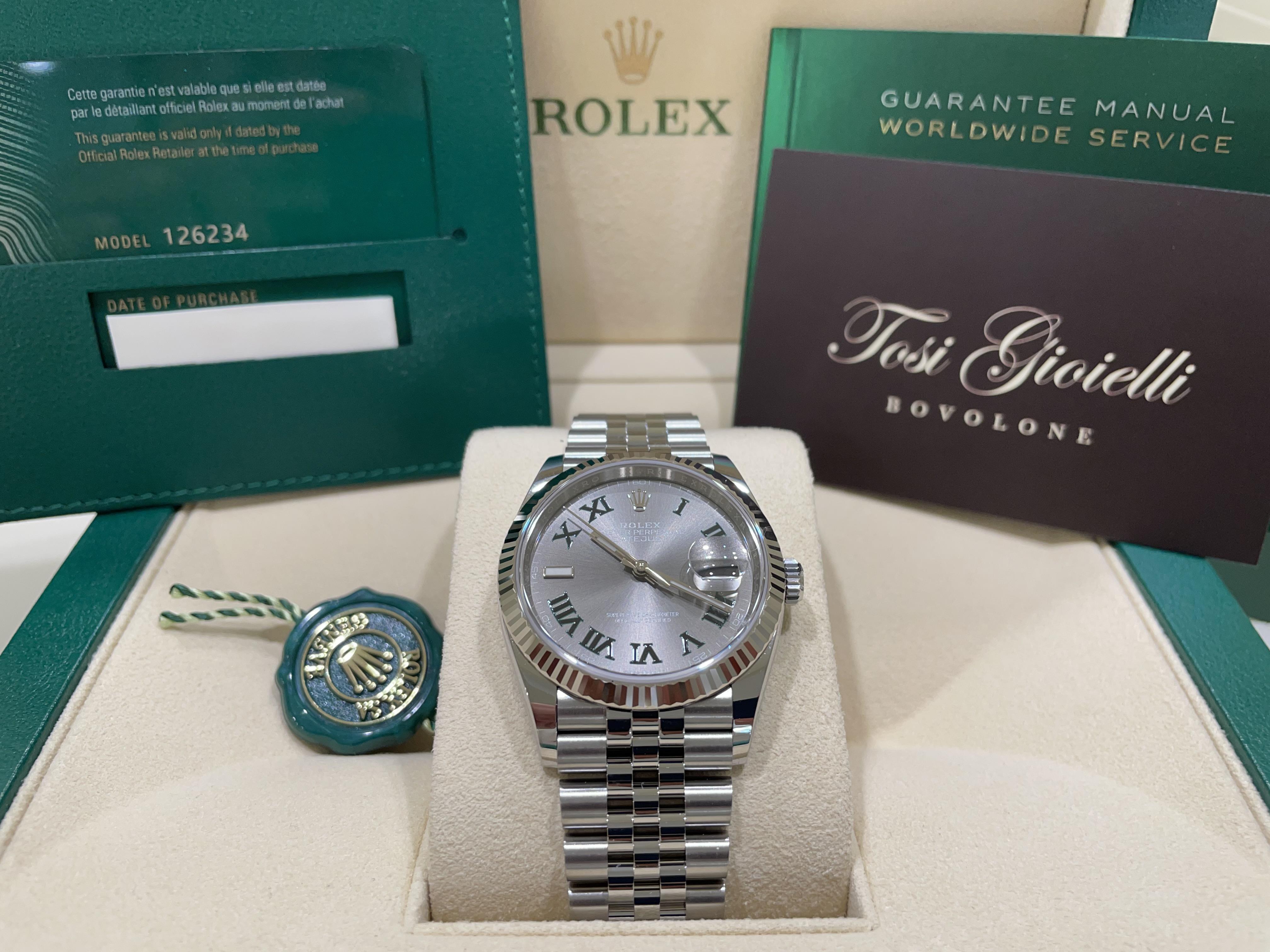 Rolex date just  126234 WIMBLEDON