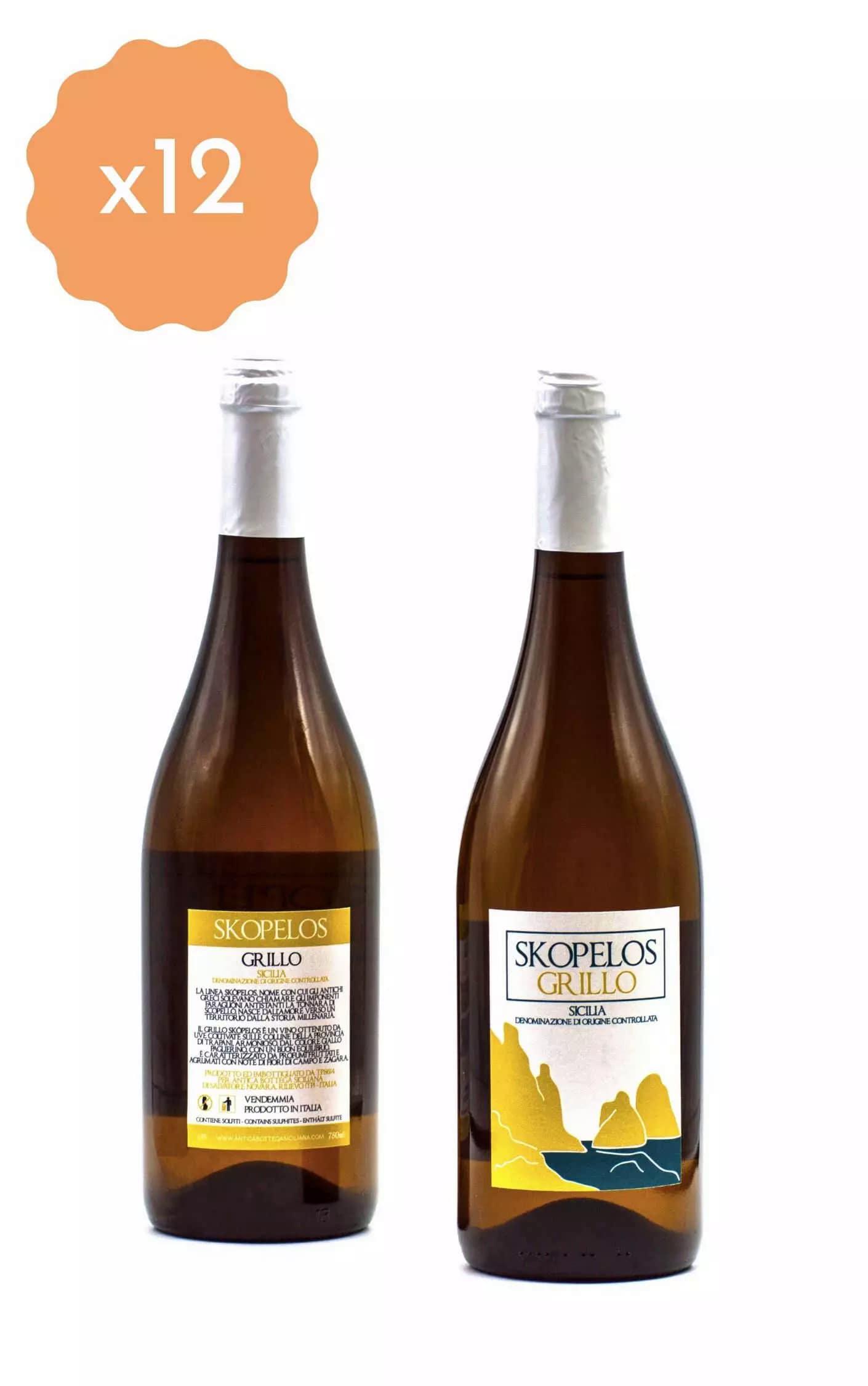 Box 12 Bottiglie Grillo Skopelos
