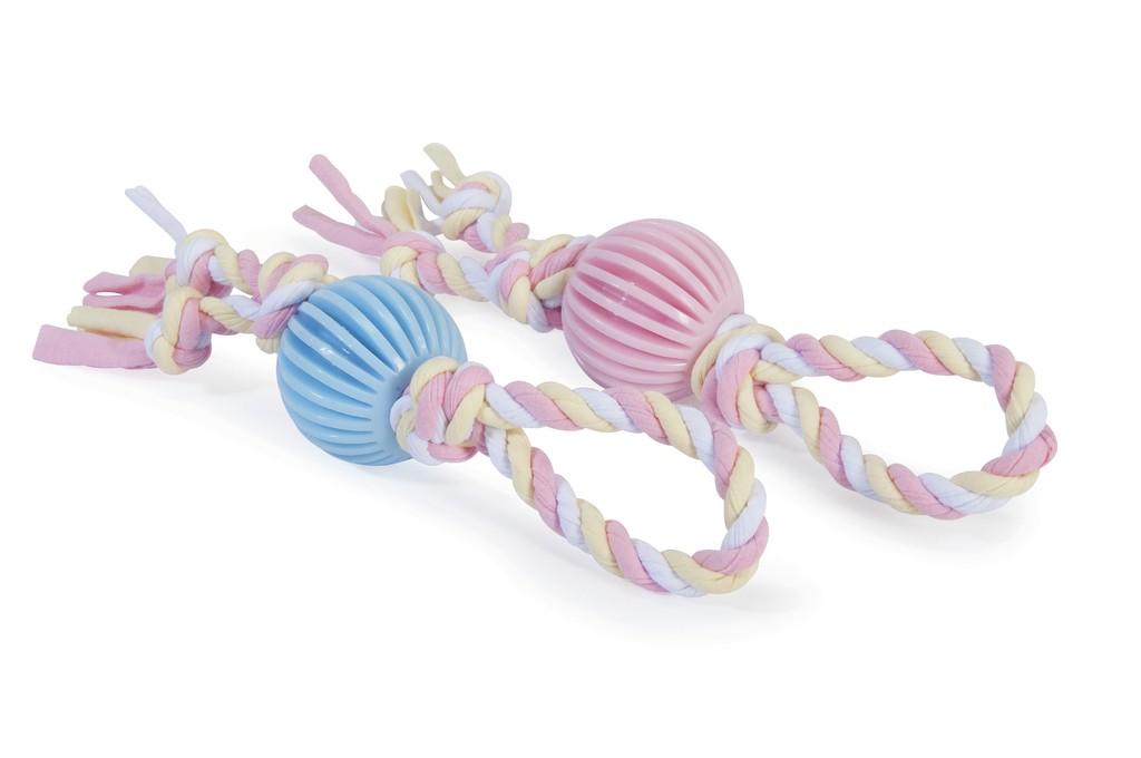 Gioco palla in TPR con corda in tessuto per cuccioli CAMON
