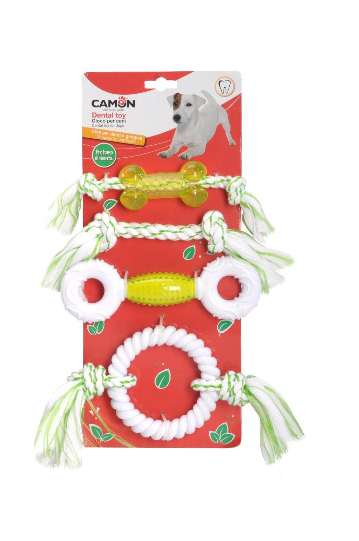 Giochi dentali per cani profumati alla menta Camon