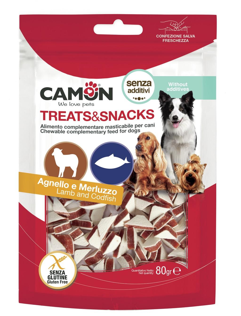 Snack per cani Triangolini agnello e merluzzo CAMON