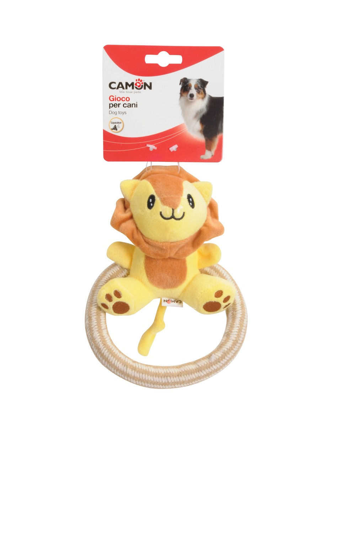 Giochi assortiti peluche con squeaker per cani CAMON