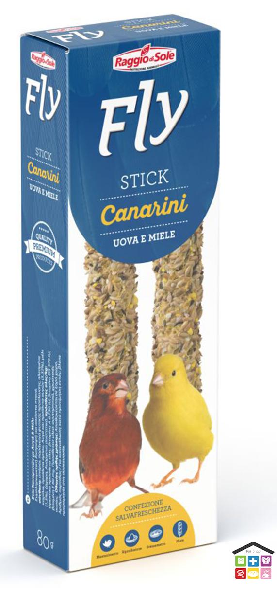 Fly stick per canarini gusto uova e miele