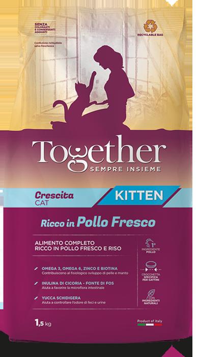 TOGETHER CRESCITA CAT KITTEN POLLO E  RISO 1,5KG