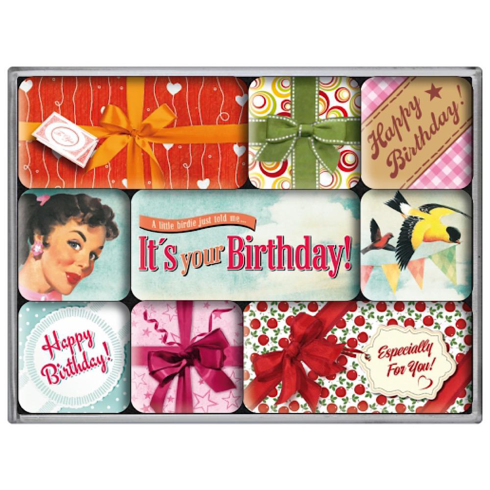Set 9 magneti It's your Birthday