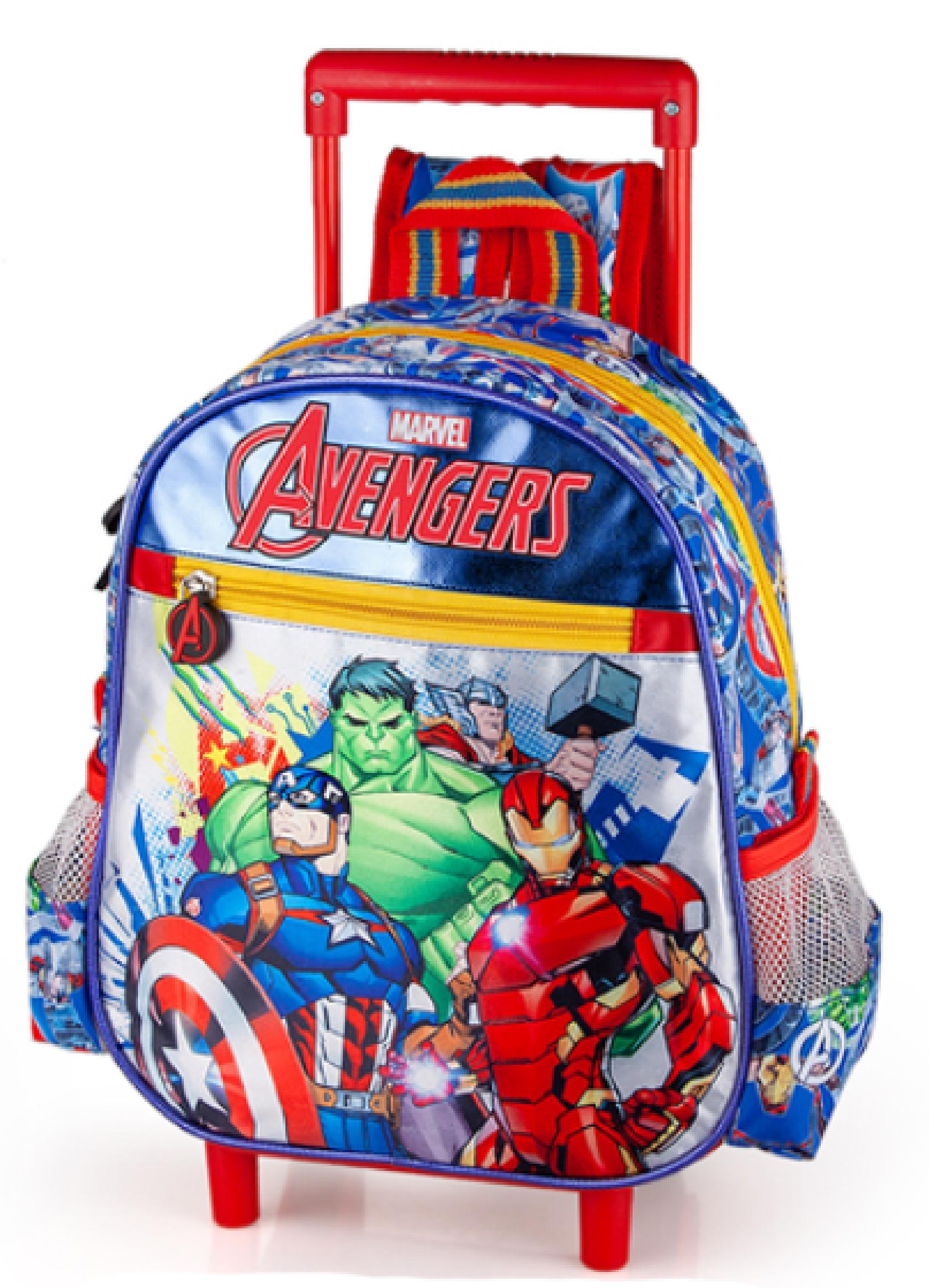 Zaino Asilo con Trolley Avengers Marvel 2 Ruote Manico ALLUNGABILE