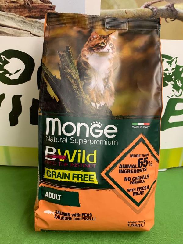 BWILD GRAIN FREE SALMONE con PISELLI 1.5kg