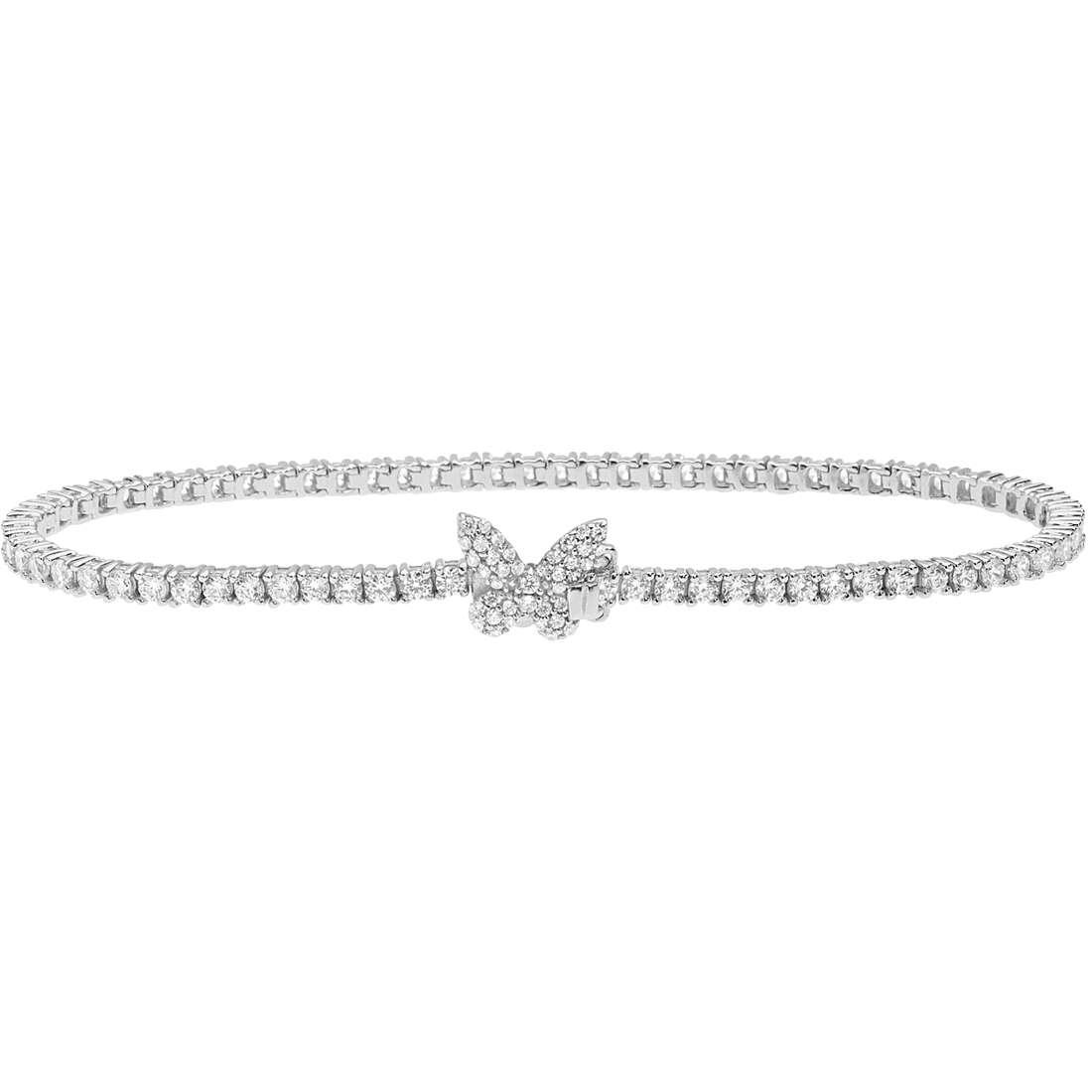 Comete Farfalla  Bracciale tennis donna in argento 925 con zirconi BRA165