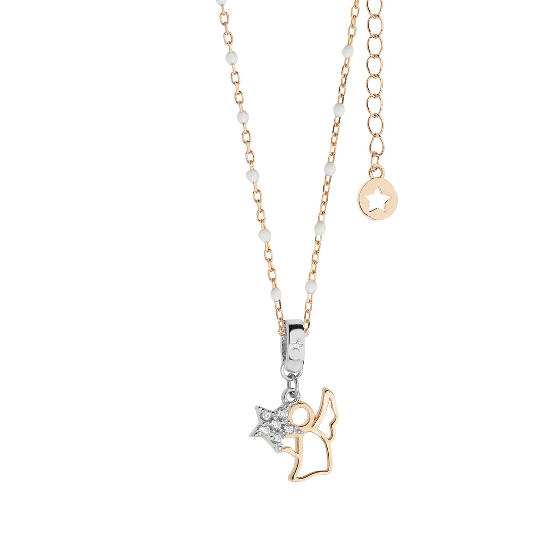 Comete Stella collana donna in argento con angelo  GLA221