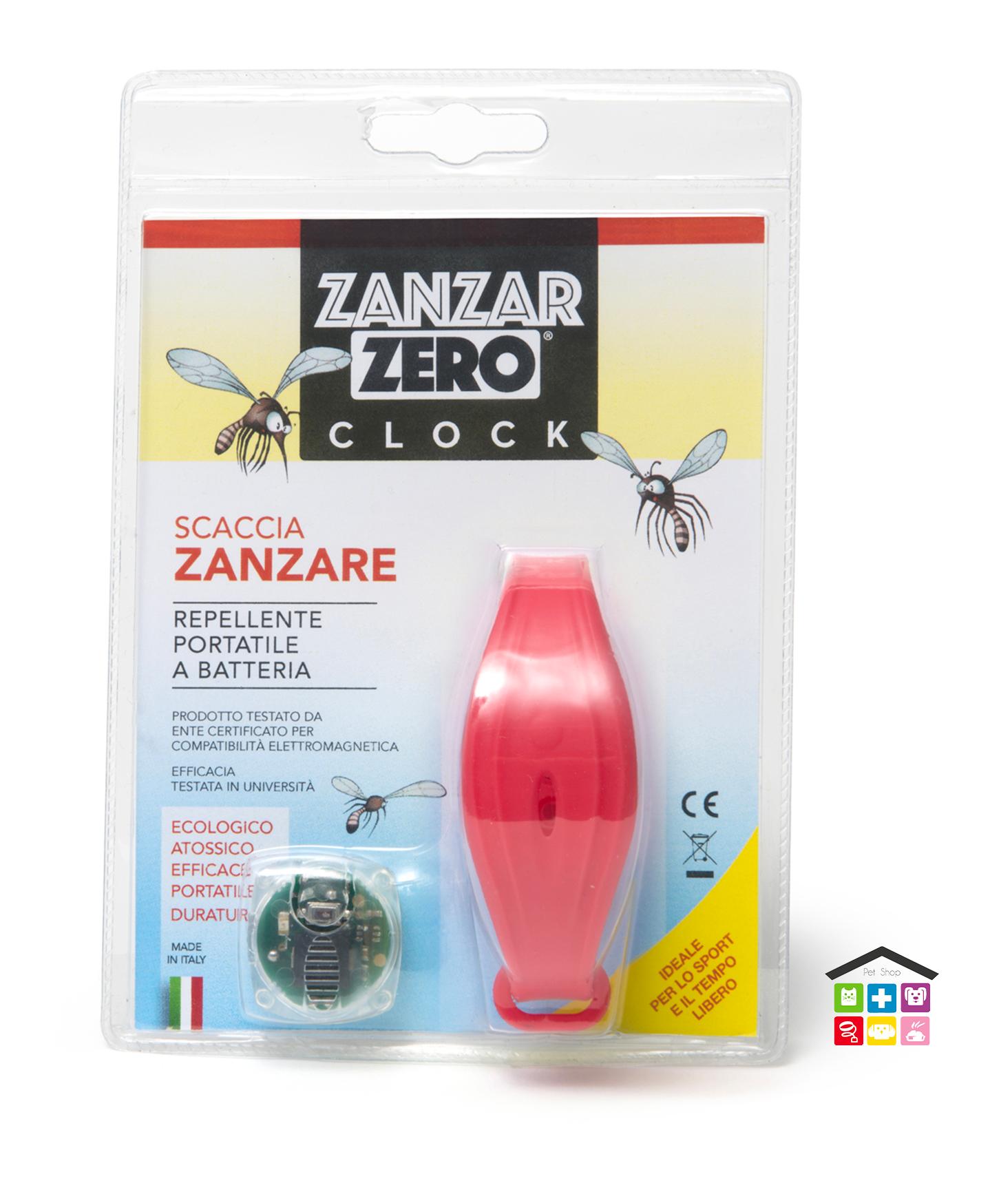 ZANZARZERO® CLOCK REPELLENTE ELETTRONICO PORTATILE SCACCIA ZANZARE