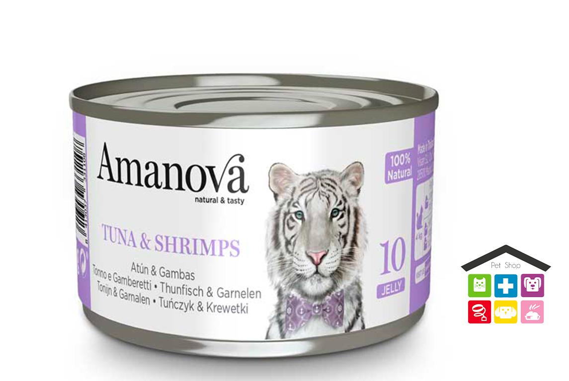 Amanova Tonno e gamberetti in gelatina 0,70g 10