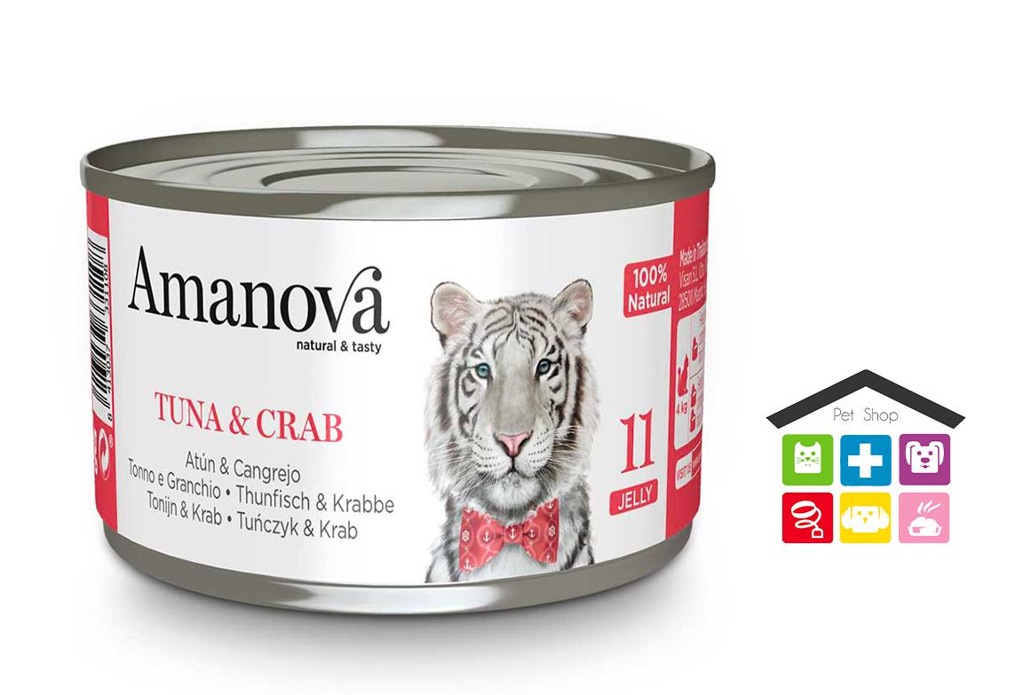 Amanova  Tonno e granchio in gelatina 0,70g 11