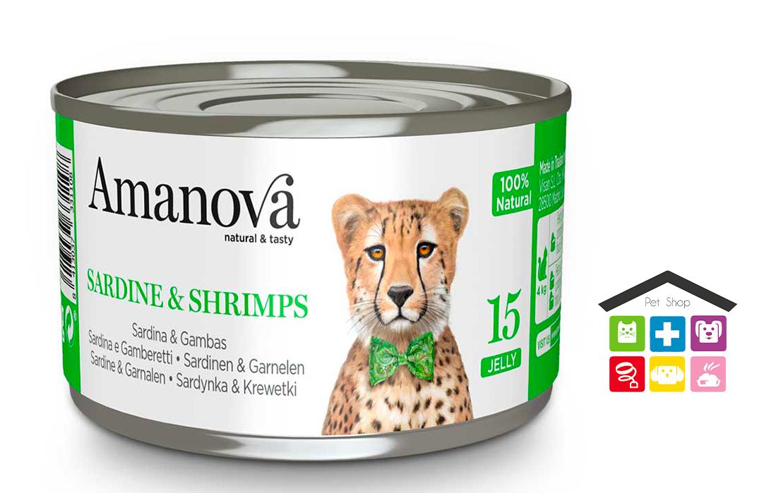 Amanova Sardine e Gamberetti in gelatina 0,70g 15