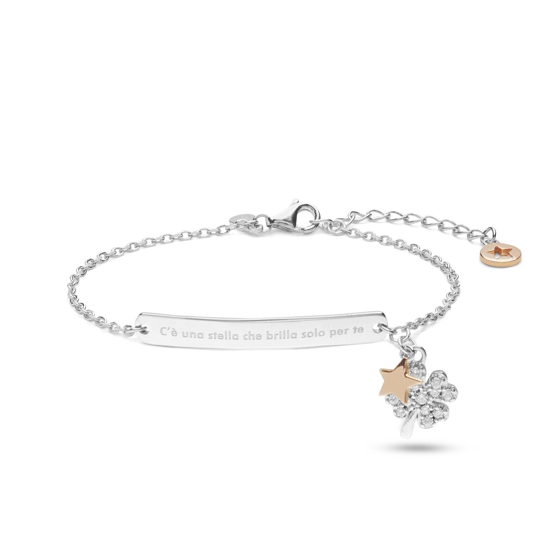 Comete Stella bracciale donna in argento con quadrifoglio BRA215