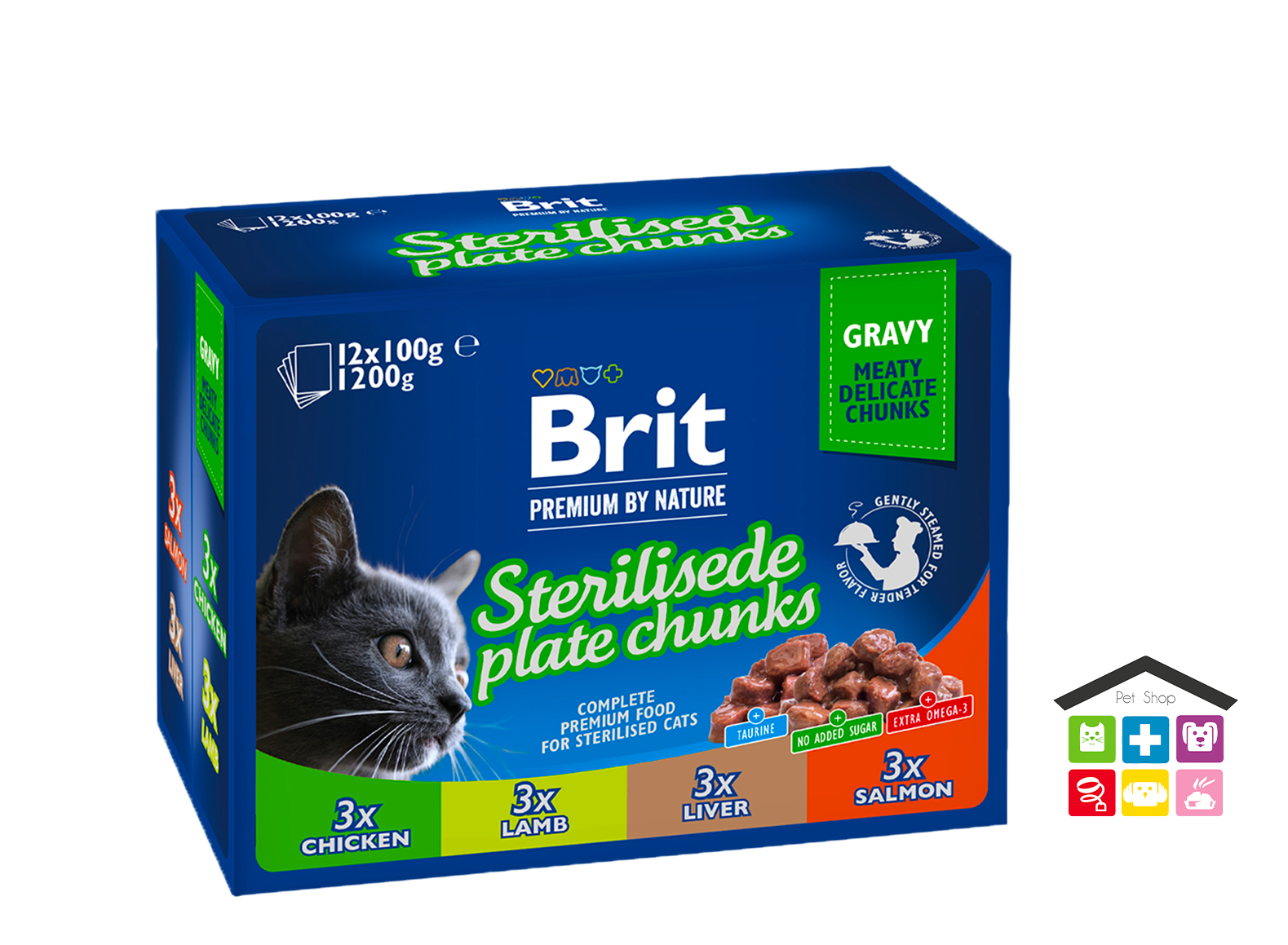 Brit Premium by Nature STERILISED PLATE CHUNKS, 12pack