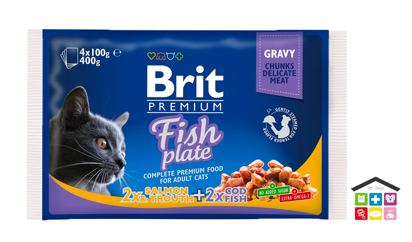 Brit Premium Cat Pouches pesce 4 x 100g