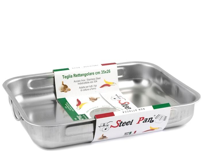 Rosticcera da forno in acciaio antiaderente 35x26