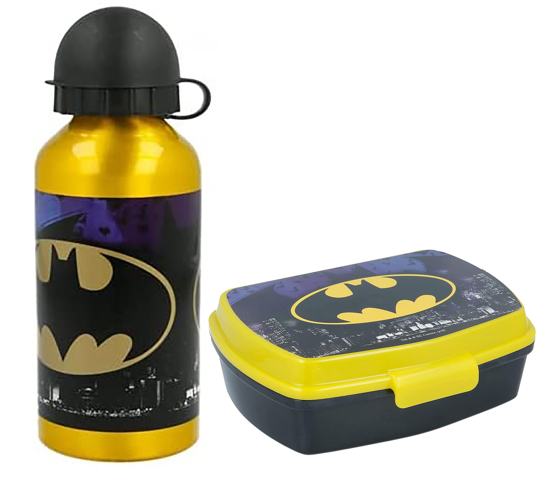 Borraccia in alluminio Batman con portamerenda Batman