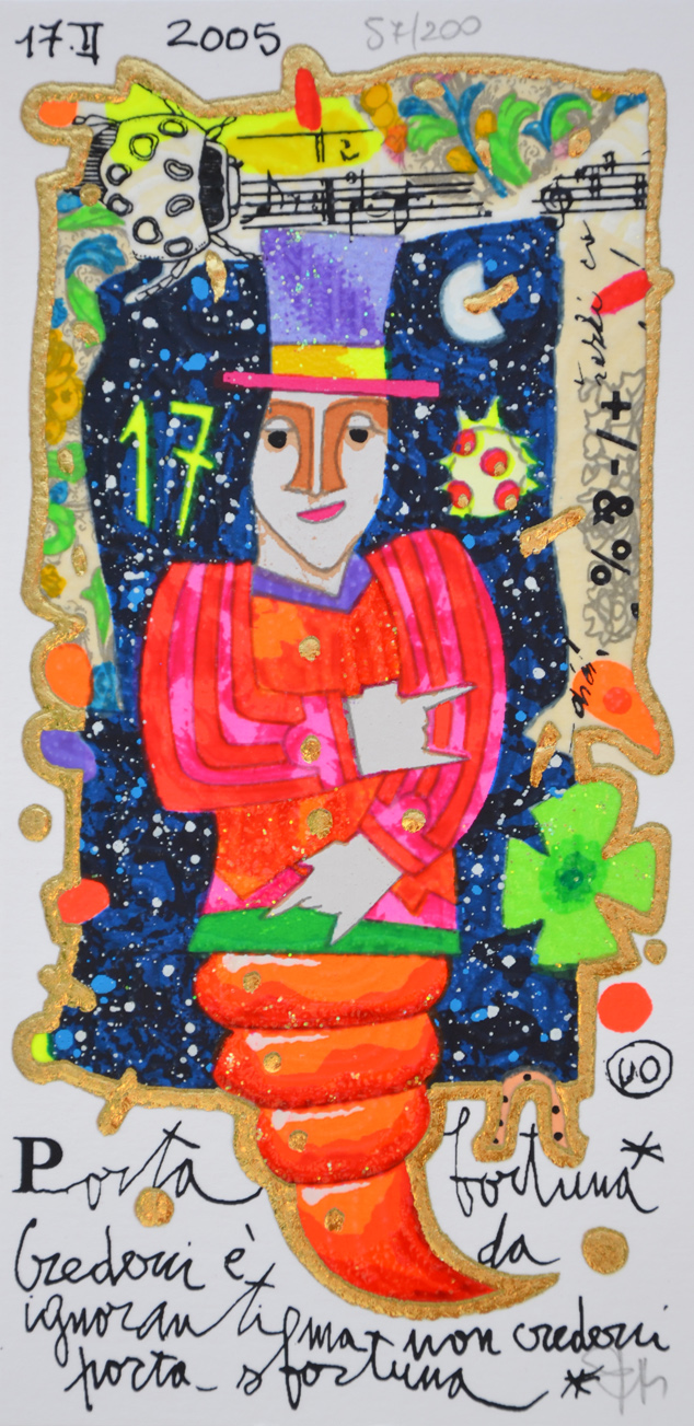 Musante Francesco Serigrafia Portafortuna Formato cm 20x10
