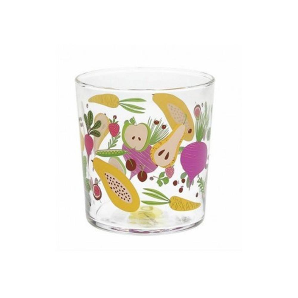 Tognana Clear Fruits 6 Bicchieri 340 cc Da Acqua Trasparente con Stampe Frutta Multicolore in Vetro