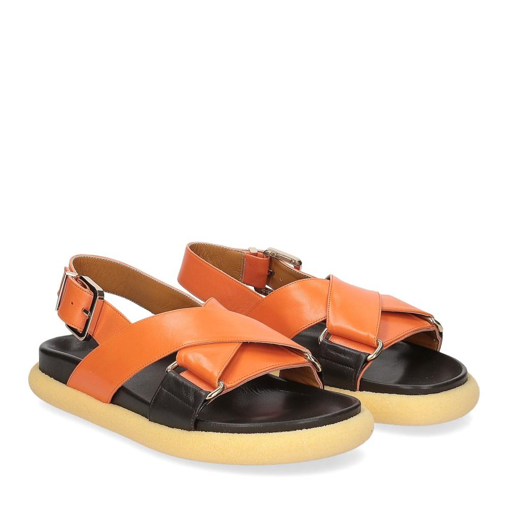 Anna de Bray Sandalo R305 pelle arancione
