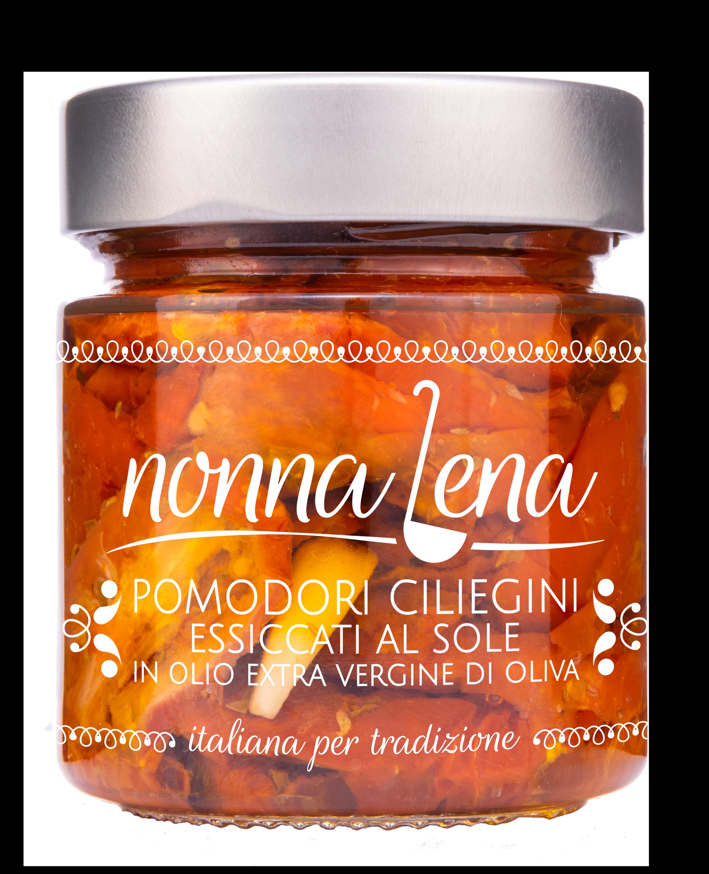 Pomodorini ciliegini essiccati al sole in olio E.V.O. - Nonna Lena