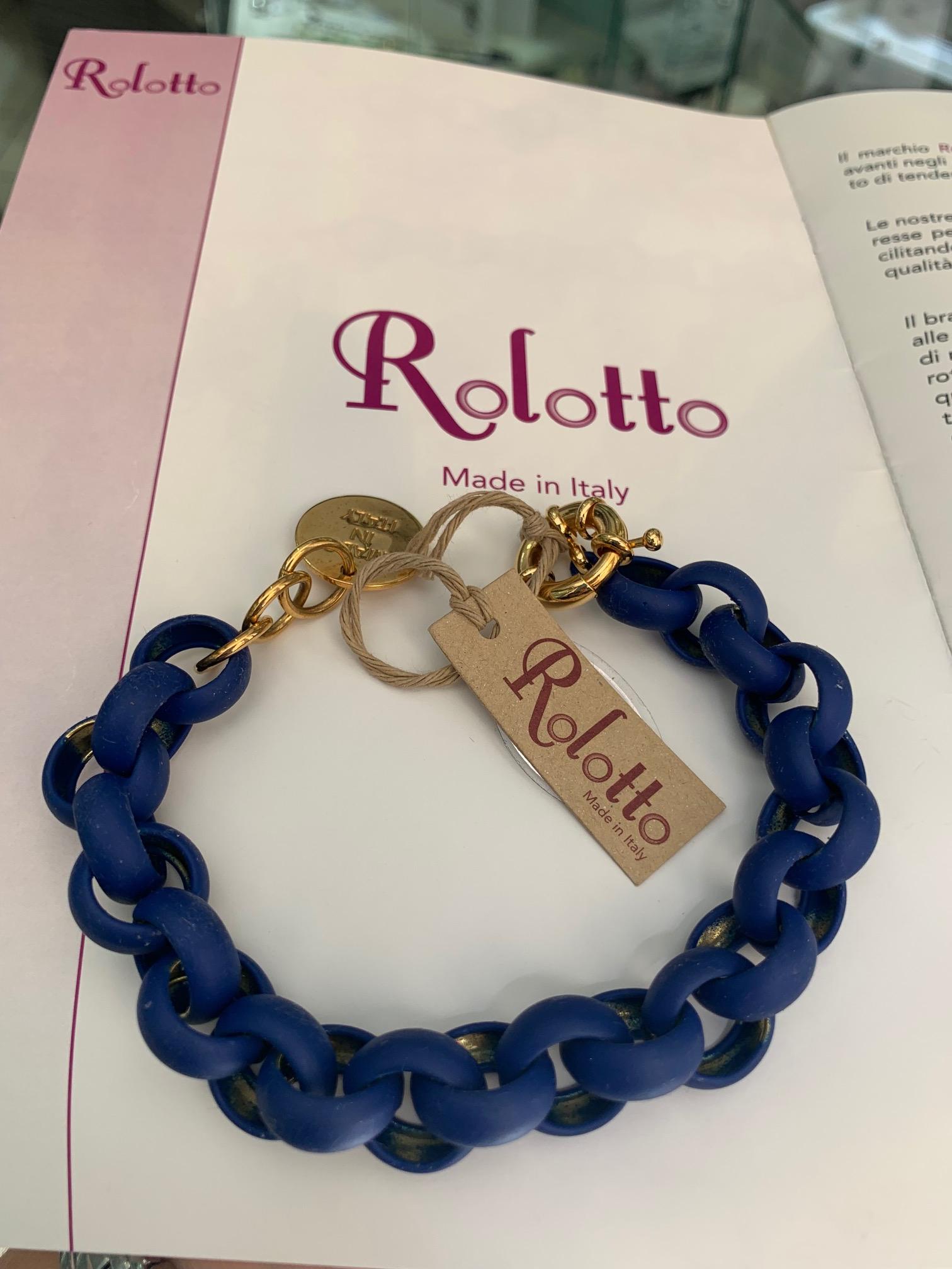 Bracciale donna Rolotto Gum Colore Blu cod. BR-GOBL