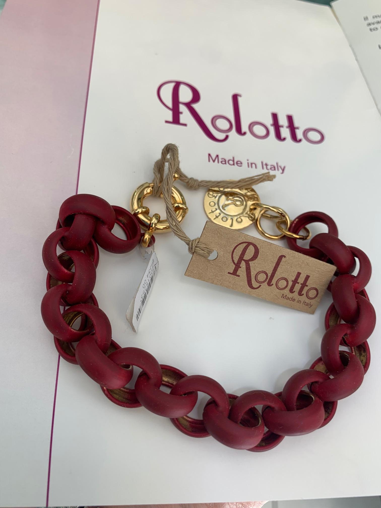 Bracciale donna Rolotto Gum Colore Bordeaux  cod. BR-GOBO