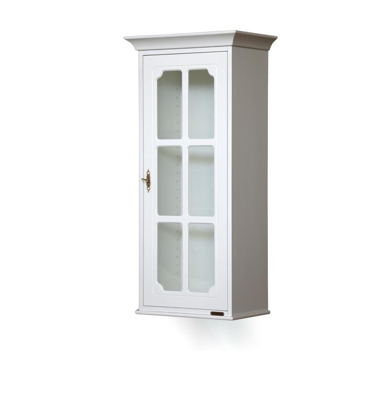 Lacquered wall display cabinet - 1 door