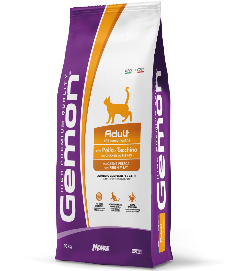 Gemon Cat - Adult - Pollo e Tacchino - 10 kg