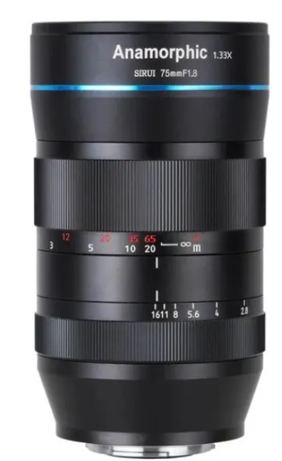 Lente Anamorfica X-Mount 75mm F1.8 1.33X