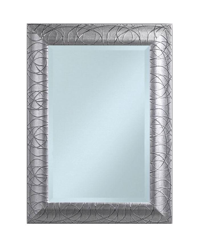 Miroir rectangulaire en feuille argent