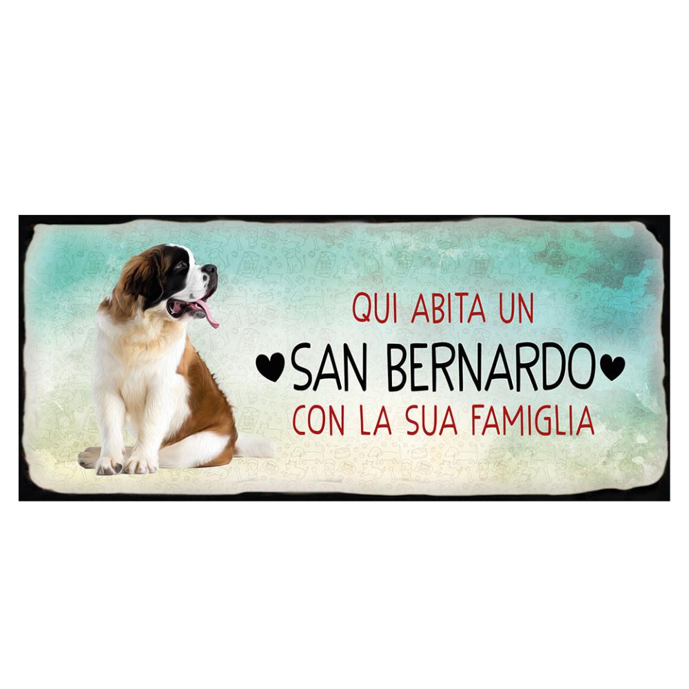 Placca in metallo cane San Bernardo