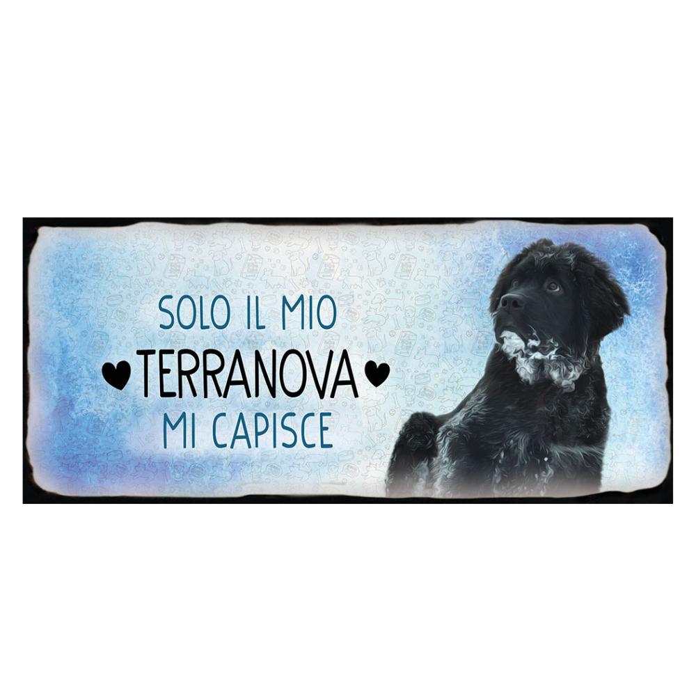Placca in metallo cane Terranova