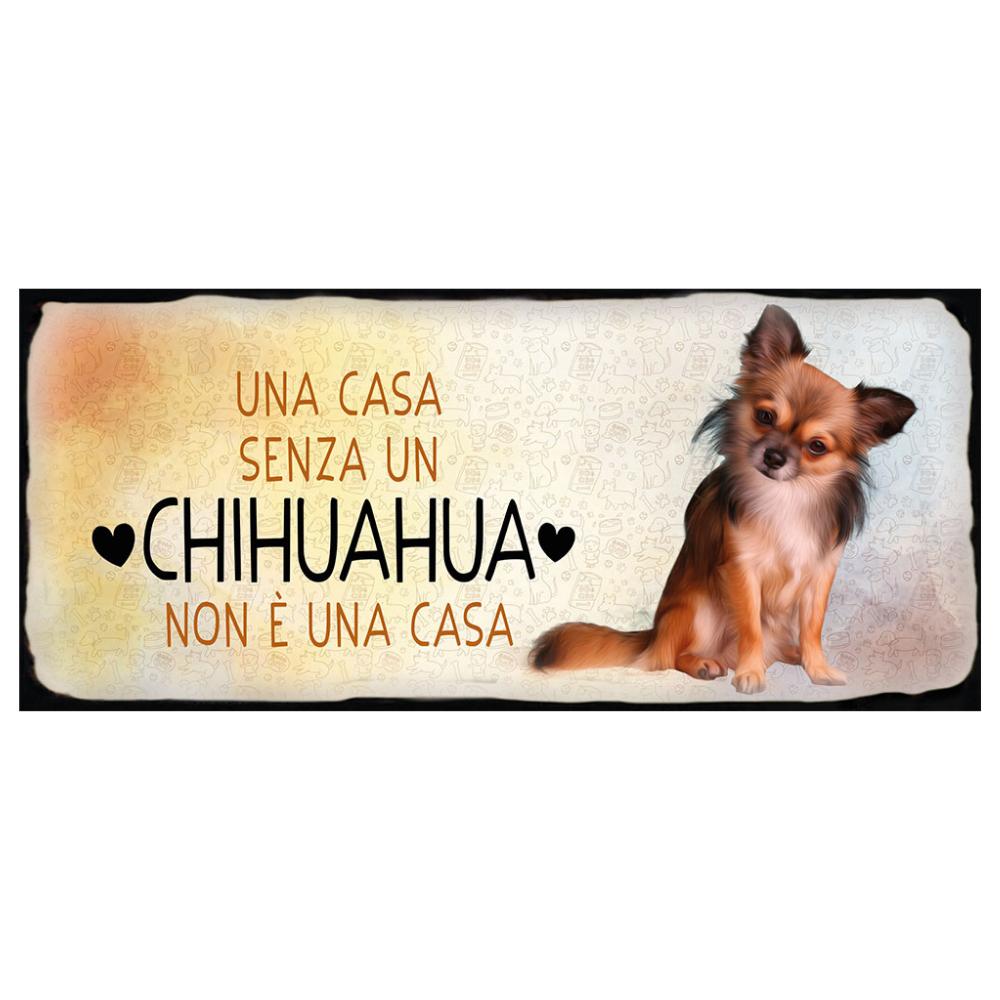 Placca in metallo cane Chihuahua