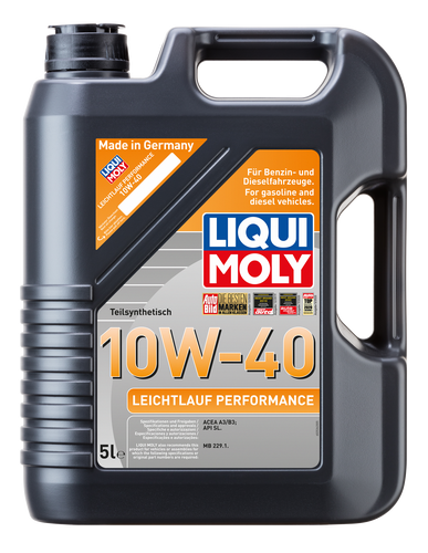 Olio Motore Liqui Moly Leichtlauf Performance 10W-40 Barattolo Lt.5