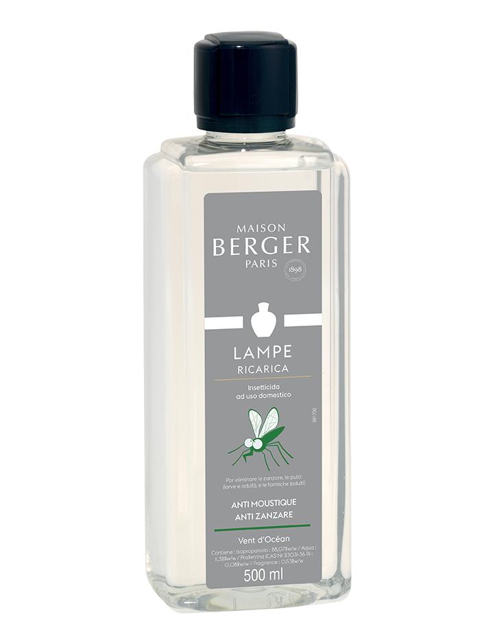 Maison Berger - Anti Mosquito Zanzare Vent d'Ocean 500ml (Ricarica per Lampe)