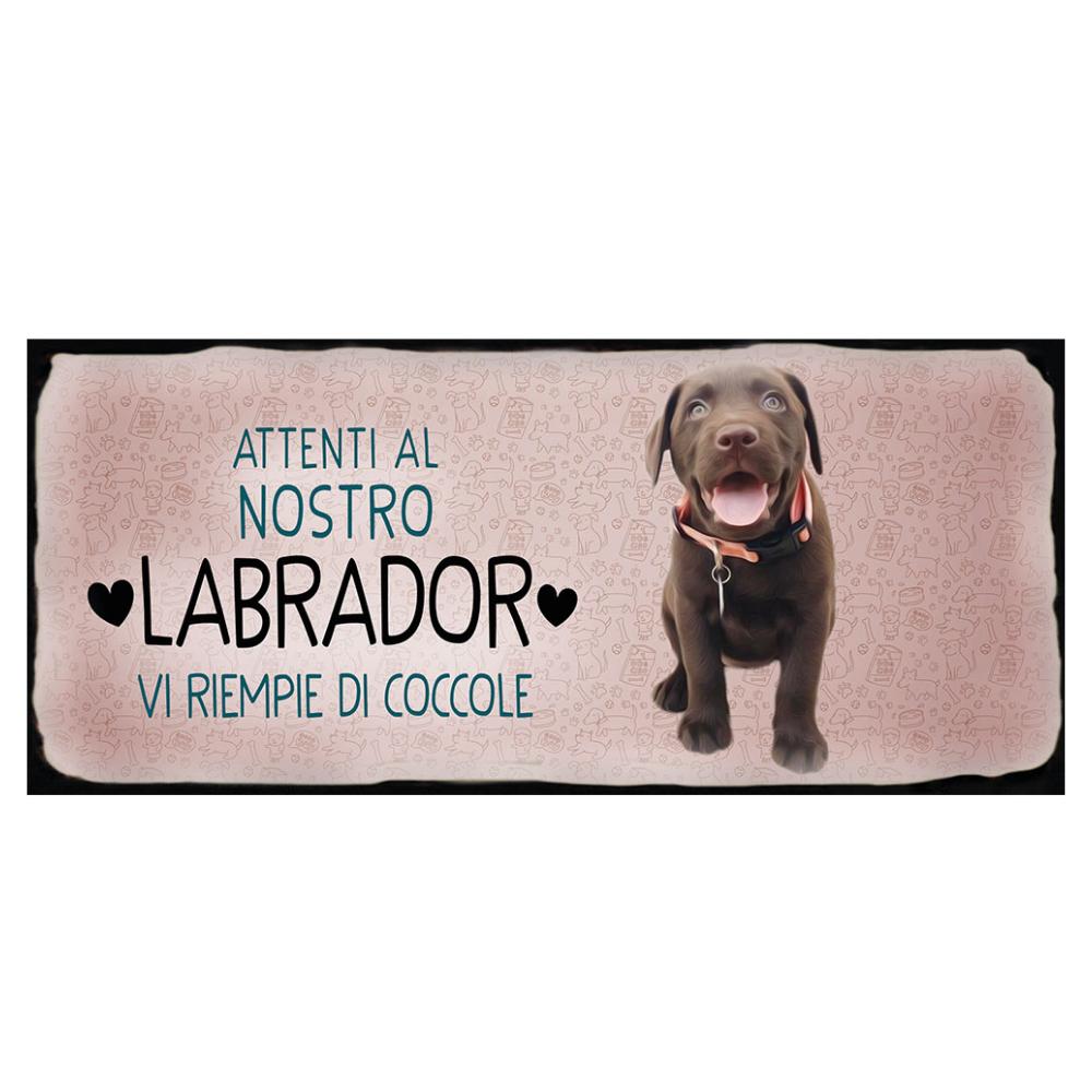 Placca in metallo cane Labrador
