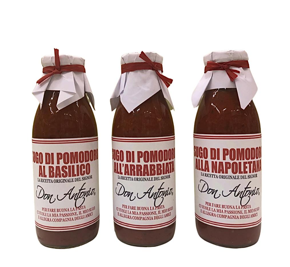 Sughi al pomodoro Don Antonio - tris condimenti per la pasta-
