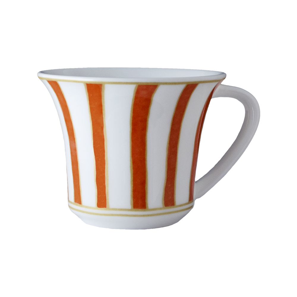 Tazza thè e cappuccino cc 250   Striche Arancio e Oro
