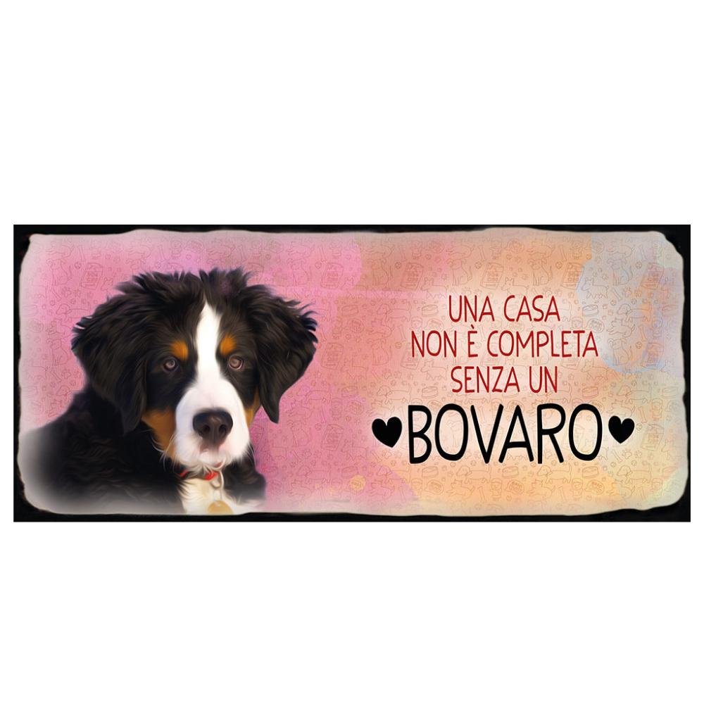 Placca in metallo cane Bovaro