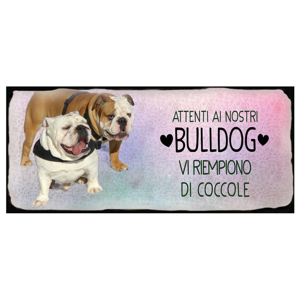 Placca in metallo cane Bulldog