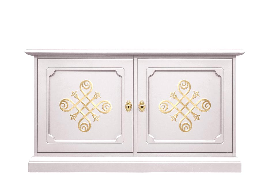 Low cabinet with two doors 'You Laq' collection