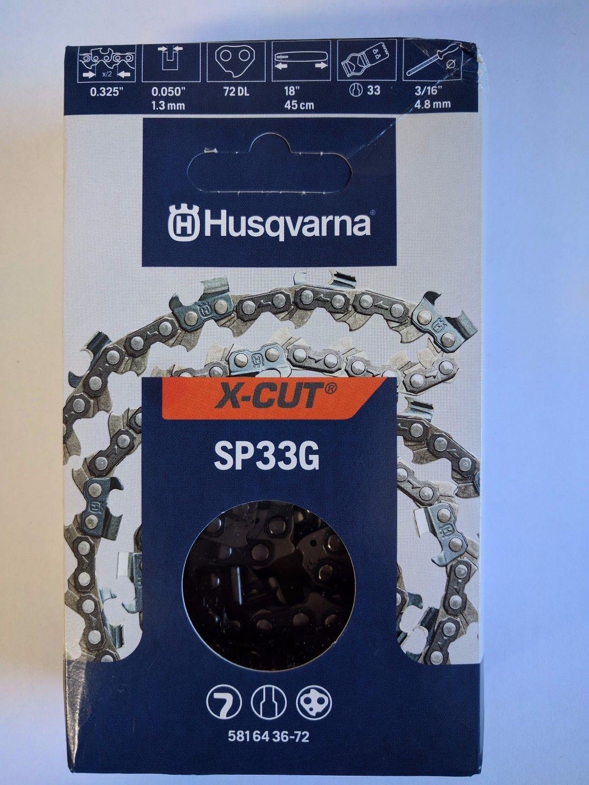 CATENA PER MOTOSEGA HUSQVARNA SP33G72 ORIGINALE PASSO .325
