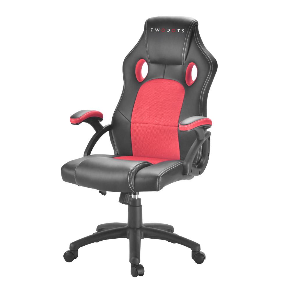 TWO DOTS - Sedia Racing Gaming Colore Rosso e Nero